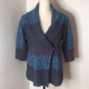 3️⃣/2️⃣5️⃣ Willi Smith Wrap Cardigan Chunky Knit